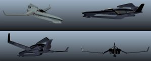 Aerial Fighter Rough by MeckanicalMind