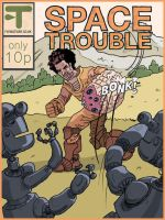 Space Trouble!  Comic cover by megapowerskills