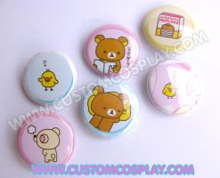 Rilakuma buttons by The-Cute-Storm