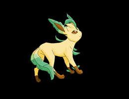Leafeon by Electrical--Volttail