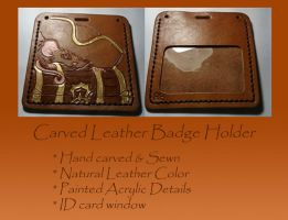 Leather Badge Holder by Zura-Rozier
