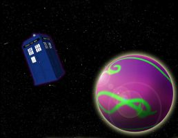 Planet With Stars With Tardis by Omnishambles