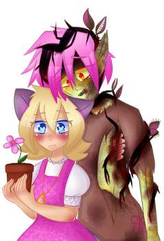 Flower, Cat and Corpse by Joifee