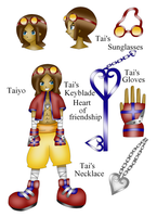 Kingdom Hearts OC Taiyo by ParitSentiment