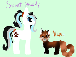 Sweet Melody and Maple! by snowgraywhite