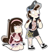 Mostly Ghostly mystery twins by animatedjapanbee