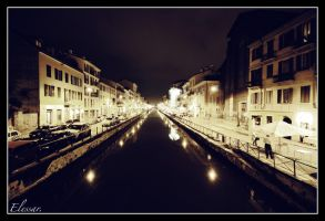 Navigli by night. by Elessar777