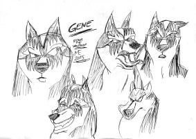 Kitara the wolfhound - Gene - sketches by MortenEng21