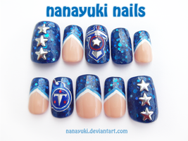 Tennessee Titans nails by Nanayuki