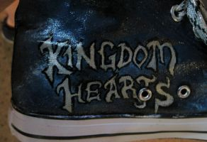 Kingdom Hearts custom painted shoes 3 by thedarkartistgirl
