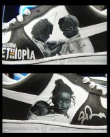 Mission: Ethiopia Nikes detail by PattersonArt