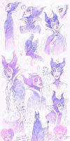 Maleficent Sketch Sheet I by paje-chan