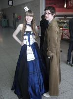 London MCM Expo - Lady Tardis and 10th Doctor by DoctorWhoOne