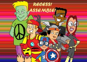 Recess Avengers by raggyrabbit94