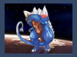 Space Godzilla over Mars by Dezarath