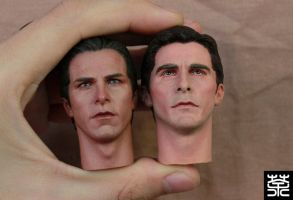 Custom repaint Christian Bale 1/6th headculpt by NightT47