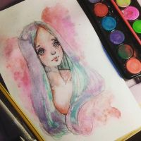 Timelapse - Cheap Art Supplies Challenge by Ninelyn