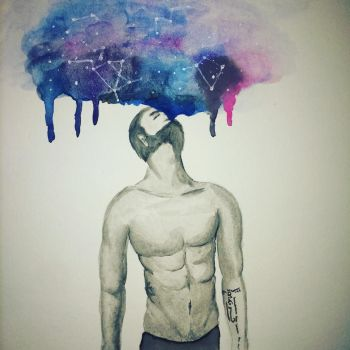 inhaling the universe by mackarylic