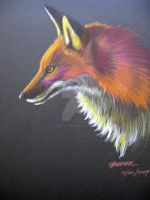 Fox in Prismacolor 1 by HouseofChabrier