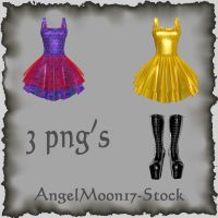 Dress and Boot Stock by AngelMoon17