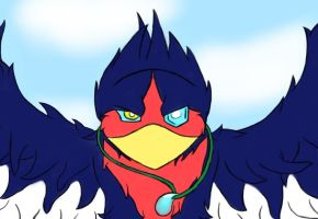 Swellow for GabladeRunner by Lily-Lyn-Rain