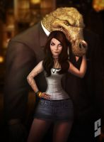 Molly and her bodyguard by saadirfan