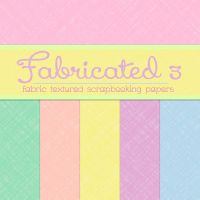 Free Fabricated 3: Fabric Textured Papers by TeacherYanie