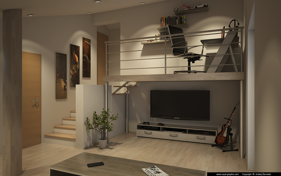 Living Room Februar 2014 by slographic