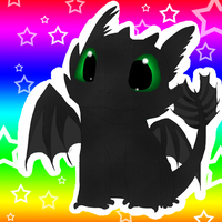 Toothless chibi by 50-Shades-Of-Gay