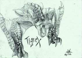 the Roaring Wyvern Tigrex by Yuichikun