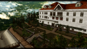 SH2 Hotel OUTSIDE ONLY - MMD Stage DL by DiemDo-Shiruhane