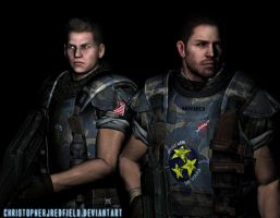 Chris and Piers: USCM -RENDER- by ChristopherJRedfield