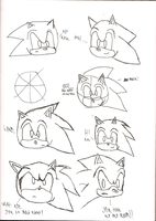Shadow759 Drawing Sonic Head Practice 1 by shadow759