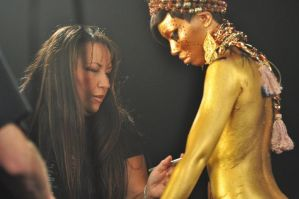 Body Painting for Music Video by ItsAudrea
