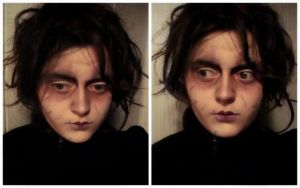 Edward Scissorhands female make-up transformation by L-Justine