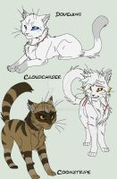 Warrior Cats Group 4 by KasaraWolf