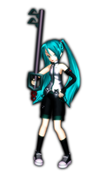 MMD Newcomer - Kingdom Hearts styled Miku by KEdd-P
