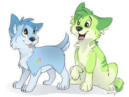 Angel and Lucian - neomutt by Bonday