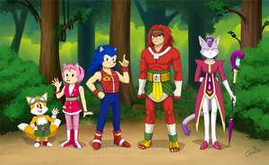 Dragon Ball / Toriyama Styled Sonics by BlazeTBW