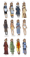 Sakari's Outfits by Miyanko
