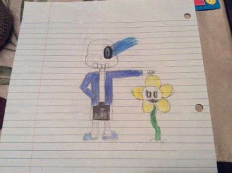 Sans and Flowey by Snow1the2vampire