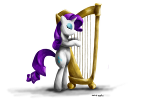 Rarity's Harp by instant-noodle5