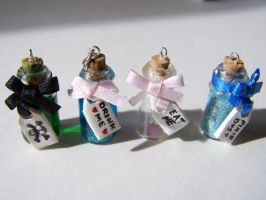 Tiny Bottle Charms by littlemooglet