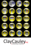 Yellow Orb Social Media Icons by claycauleyinc