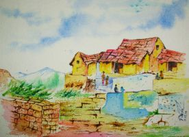 Village in india by Akvil