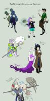 AatR3 - colored character dump round 1 by Amarathimi