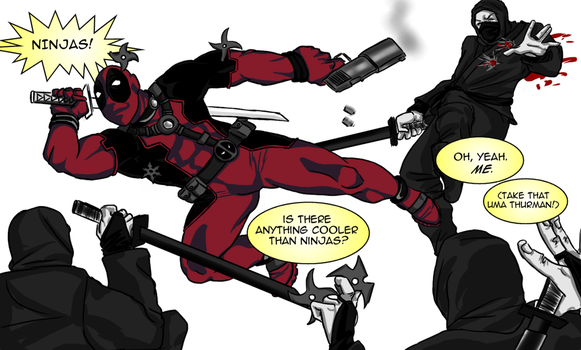 Deadpool vs. Ninjas by 00-TabulaRasa-00