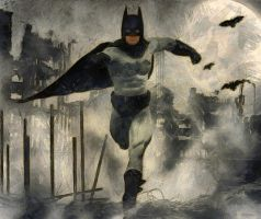 Batman in the dark night by hiram67