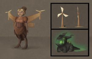 Game Presentation - Character Design by hannahspangler