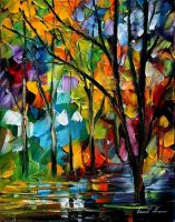 Park oil painting on canvas by L.Afremov by Leonidafremov